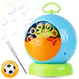 Dadoudou Bubble Machine Automatic Portable Football Shape Bubble Blower for Kids Blowing Over 500 Bubbles Per Minute for Outdoor or Indoor Party