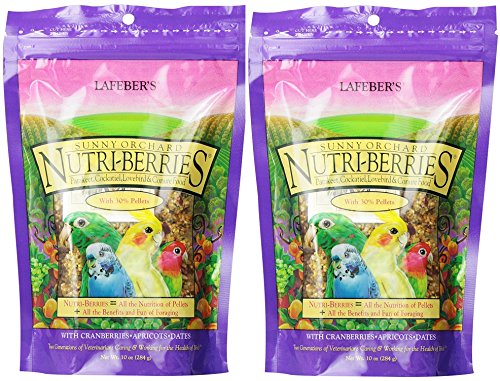 Cockatiel Berry - (2 Pack) Lafeber's Gourmet Sunny Orchard Nutri-Berries for Cockatiels 10-Ounce Bag