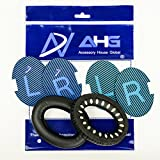 Replacement ear cushions for Bose Quiet Comfort 25 (QC25) headphones. Complete with original style QC25 scrims and BRAND NEW AHG blue/black scrims both with L and R lettering