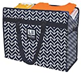 Le Sac Extra Large Heavy Duty Zippered Organizer Storage Tote Bag. Holiday Decor Storage Bag, College Carry Bag, Large Trunk Organizer, Oversize Storage Bag, Camping Laundry Bag 5 Pk