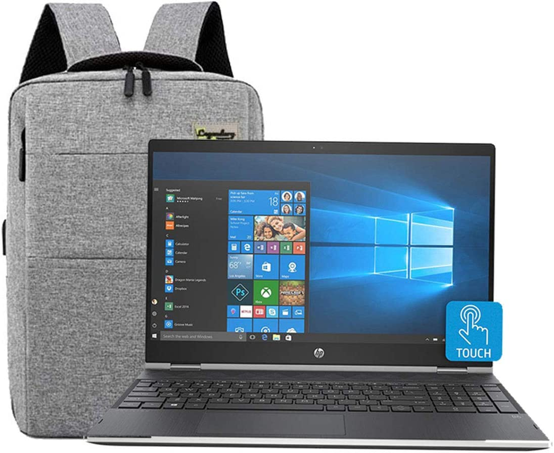 "HP Laptop 2-in-1 Convertible 15.6"" Touchscreen Full HD IPS Pavilion X360 Business Laptop, Intel Quad Core i5-8250U, 8GB RAM, 256GB SSD, Backlit Keyboard, USB Type-C, W/ Legendary Accesories"