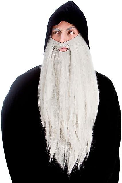 Long Grey Wizard Wig /& Beard Fancy Dress Lord Of The Rings Troll