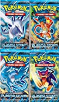 4 (Four) Packs of Pokemon Trading Card Game Black & White BW - PLASMA STORM Booster (4 Pack Lot)