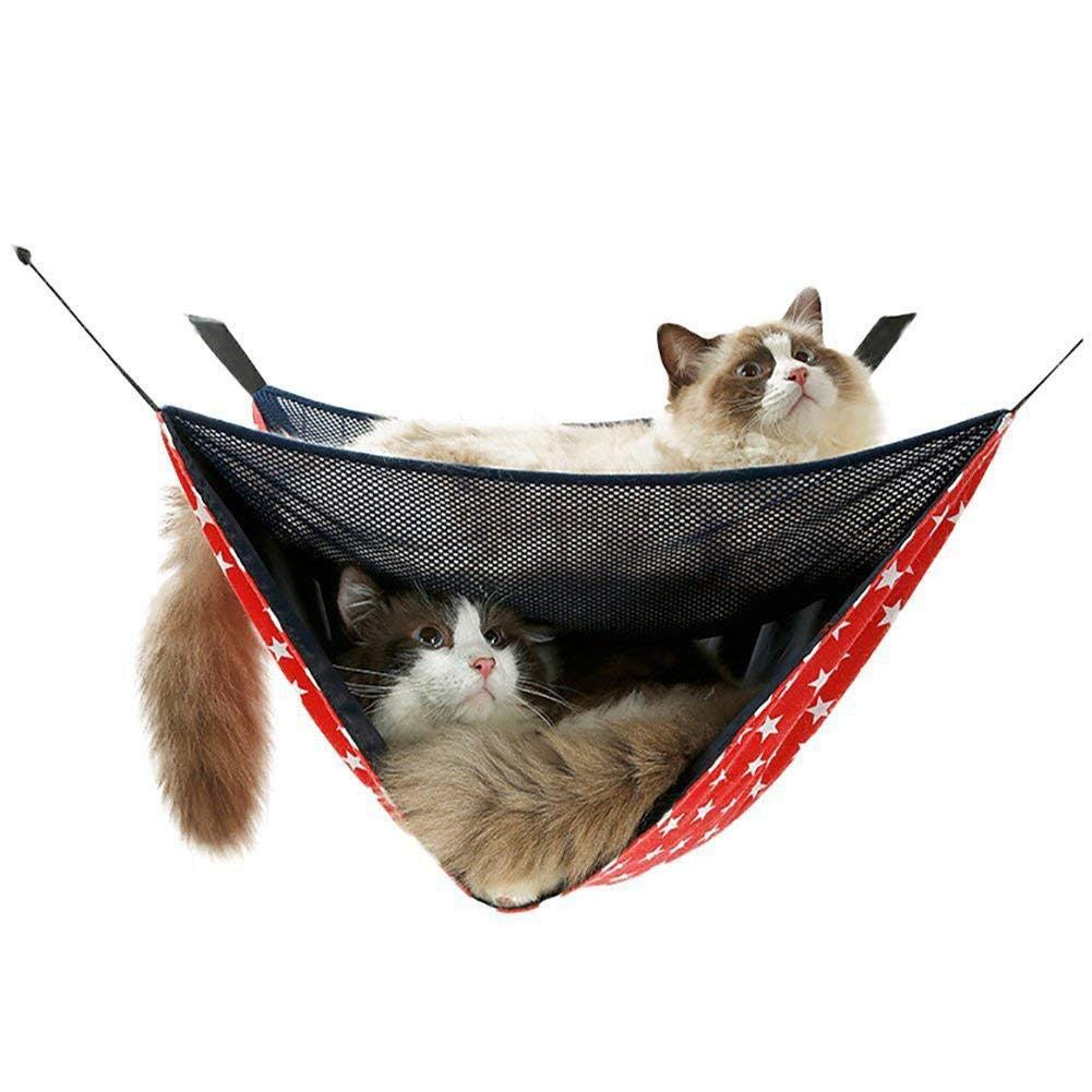 JLFAIRY Pet Summer Breathable Mesh Hammock Swing Hanging Bed for Cat Small Dogs