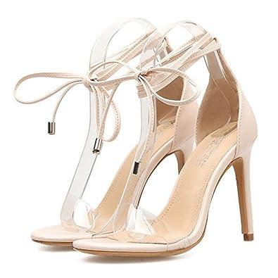 dd2ce17db DFUCF Women Sandals Summer Transparent Rubber Cross Strap High Heels Roman Sandals  Women s Shoes