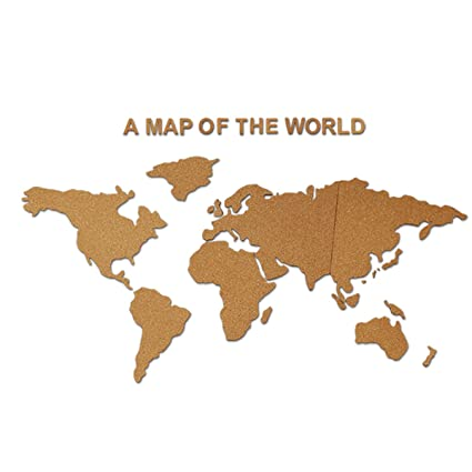 Amazon creative 3d world map cork boards photo wall display creative 3d world map cork boards photo wall display message board for home classroom office decor gumiabroncs Gallery
