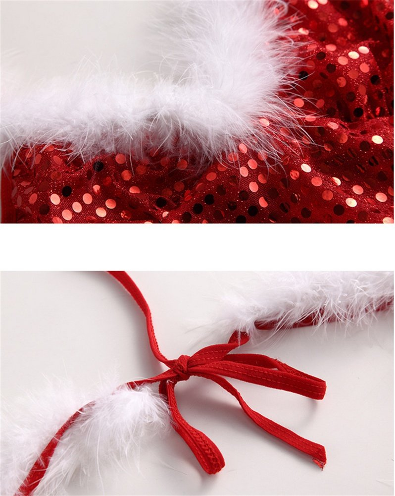 Mujer Ropa Interior Hembra Lencería Tirantes Ropa Adulto siamés Ropa Tirantes Navidad Tentación Uniforme, Red, m 6cd45d