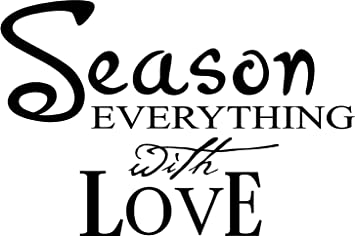 Delightful Season Everything With Love Wall Art Wall Sayings Vinyl Letters Stickers  Kitchen Part 32