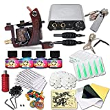 Dragonhawk Complete Tattoo Kit 1 Dragonhawk Mate Tattoo Machine Gun Immortal Tattoo Inks Power Supply Needles Grips Tips 1013GD