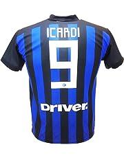 114b11bb03c1c Camiseta de Fútbol Mauro ICARDI Maurito 9 Inter F.C. Primera Camiseta Azul  Negra Temporada 2018-