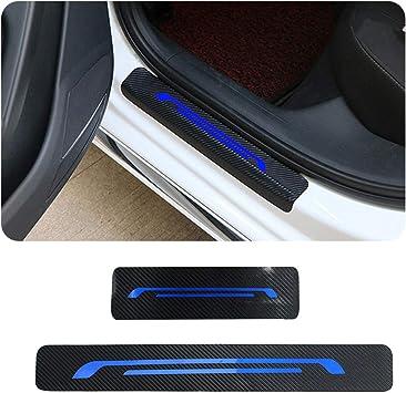 F/ür KA Focus Mondeo Ranger Raptor Fiesta Einstiegsleisten Schutz Aufkleber,Verschlei/ß vermeiden Verhindern Sie Kratzer Rutschfest Kohlefaser 4St/ück Wei/ß