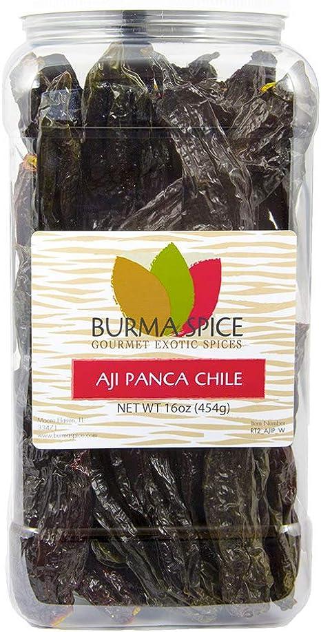Burma Spice Ají panca Chile entero: hierba seca condimento kosher ...