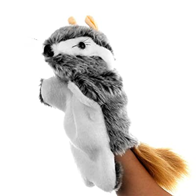 lEIsr00y Lovely Mouse Animal Doll Plush Sleeve Hand Puppet Storytelling Toy Kids Gift - Grey: Kitchen & Dining