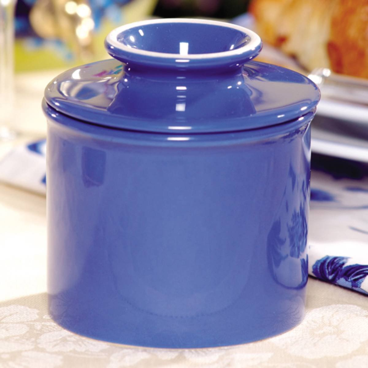 The Original Butter Bell Crock by L. Tremain, Retro & Matte Collection - Royal Blue