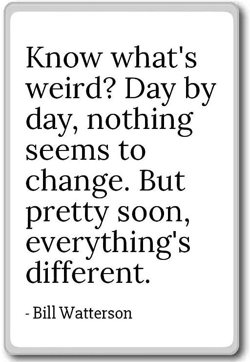 Saber lo que de Raro? Día por Día, nada parece... - Bill Watterson ...