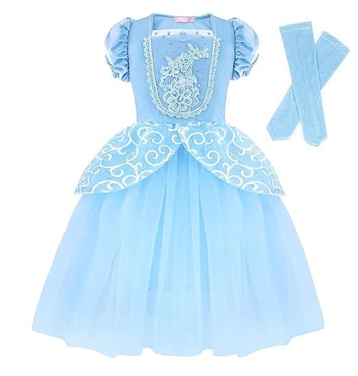 45babf02835d Amazon.com  Cotrio Girls Princess Cinderella Costume Dress Halloween ...