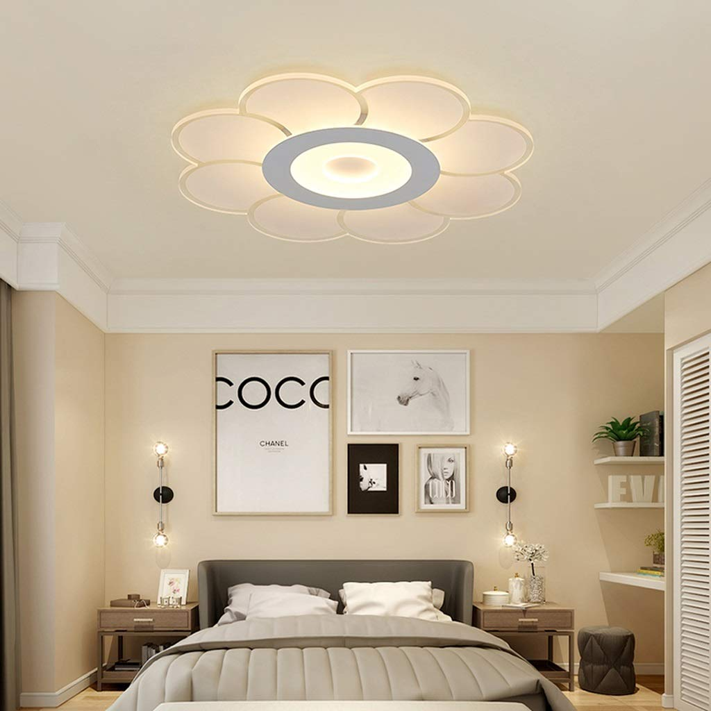 RXY-シーリングライト シンプルな花の形の寝室の天井ランプ、暖かいロマンチックな研究室のリビングルームの装飾ランプ (サイズ : 52cm) B07Q37X2WC  52cm