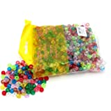 Ark Craft Glitter Pony Beads Assorted Colours - 1000Pcs (KID0010)
