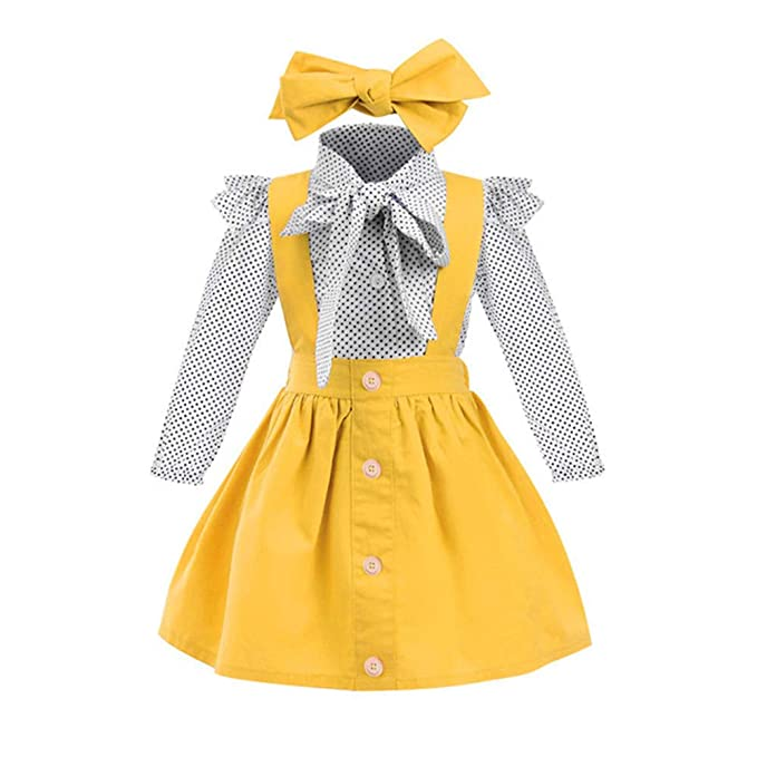 Kids 1950s Clothing & Costumes: Girls, Boys, Toddlers Toddler Baby Girl Dress Floral Rompers Strap Skirt Overall Outfits Clothes $18.00 AT vintagedancer.com