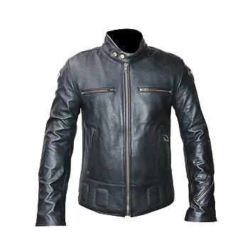 Bela Moto chaqueta de cuero Groot Chaqueta de protección para Moto Hombre Negro (54,