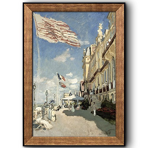 Hotel des Roches Noires Trouville 1870 by Claude Monet Framed Art