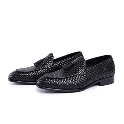 New Loafer ShoesGenuine LeatherRound ToeBraided Leather with TasselRubber Sole; Fashion and Formal;