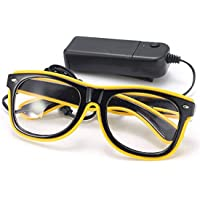 SODIAL LED light glasses Party toy glasses yellow