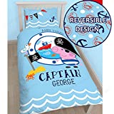 Peppa Pig George Pirate Single/US Twin Panel Duvet Cover and Pillowcase Set