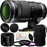Olympus M 40-150mm f/2.8 Interchangeable PRO Lens for Olympus/Panasonic Micro 4/3 Cameras + Manufacturer Accessories + 3PC Filter Kit + Lens Blower + Microfiber Cleaning Cloth