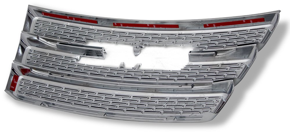 Front Grille Inserts Overlay Trim for 2010-2015 GMC Terrain -Chrome Snap On Mesh Screen Car SUV Van /& Jeep Replacement Accessories Truck