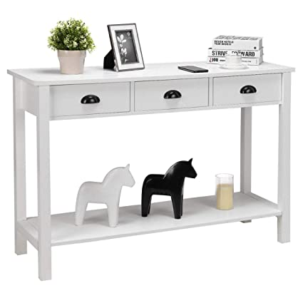 Amazon Com 47 Console Table Home Office Computer Desk Table With