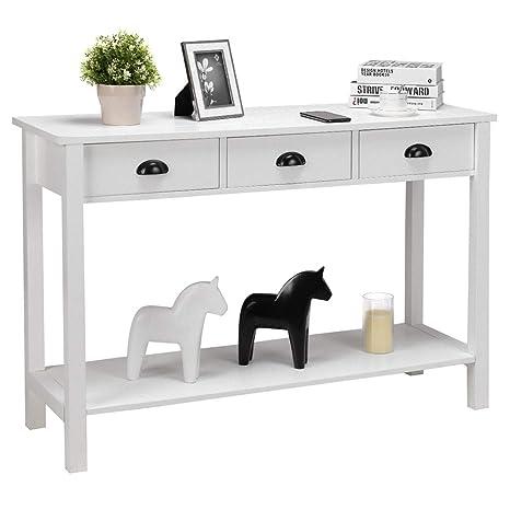 Amazon.com: Mesa de consola de 47 pulgadas, mesa de ...