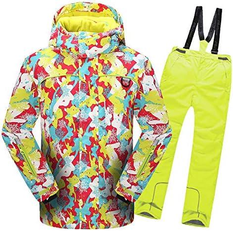 JINPINスキースーツ、子供スーツ、男性用と女性用の太めのズボン  150CM
