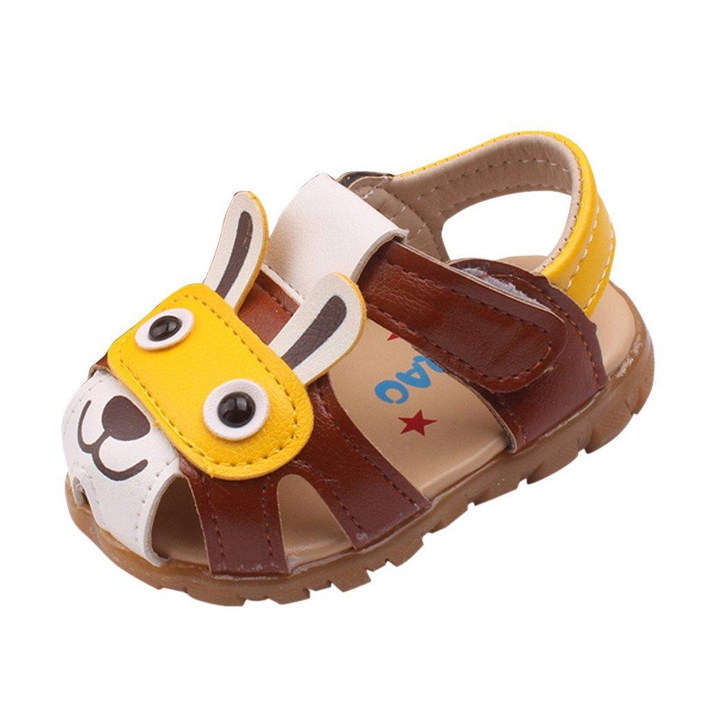 3eec3d21d9ceb Evedaily Bébé Garçon Chaussures Premiers Pas Été Sandales LED Bout Fermé en Cuir  Semelle Antidérapante Velcro  Amazon.fr  Chaussures et Sacs