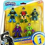Fisher-Price Imaginext DC Heroes & Super Villains Batman Robin Batgirl Joker Riddler
