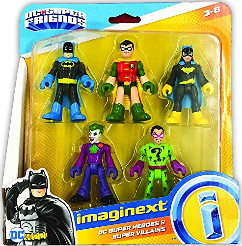 Fisher-Price Imaginext DC Heroes & Super Villains Batman Robin Batgirl Joker Riddler
