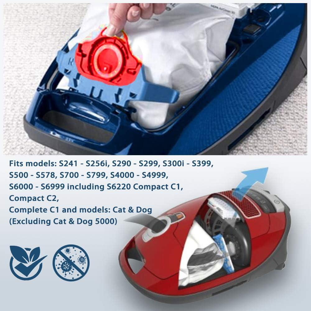 Newdora - Bolsas de Recambio para aspiradora Miele FJM HyClean para aspiradora CompleteC1, Compact C1 y C2 (10 Unidades): Amazon.es: Hogar