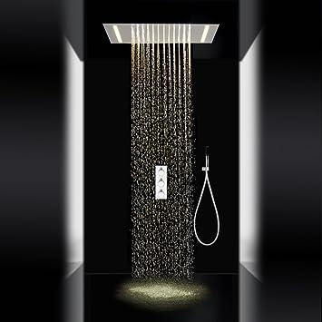 YCRD Top Spray Dusche System LED Beleuchtung Energiesparende ...