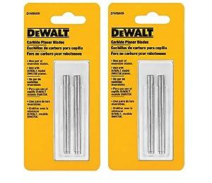 DEWALT DW6658 Carbide Replacement Blades, Sold as 2 Pack