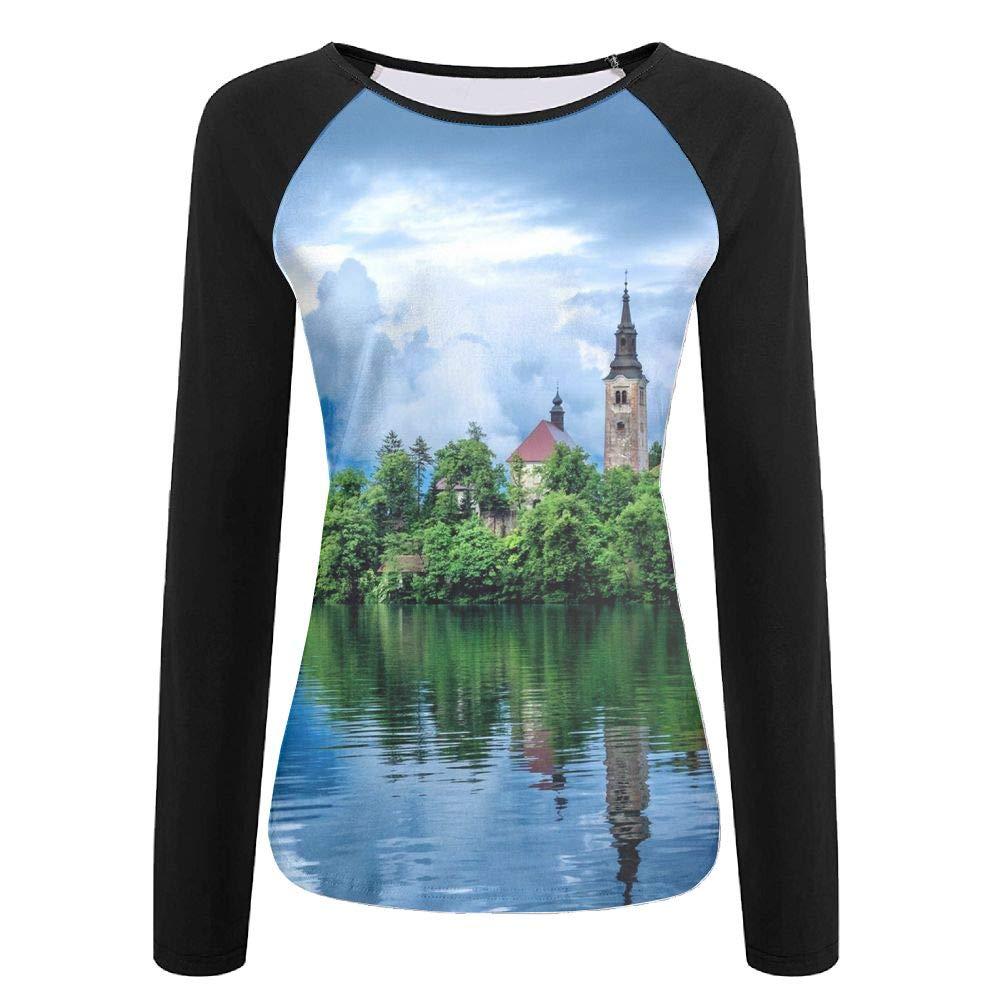 Tqx5ee Lake Heart Island Womens UPF 50+ Sun Protection Long Sleeve Outdoor Performance T-Shirt Recreation Shirts for Woman
