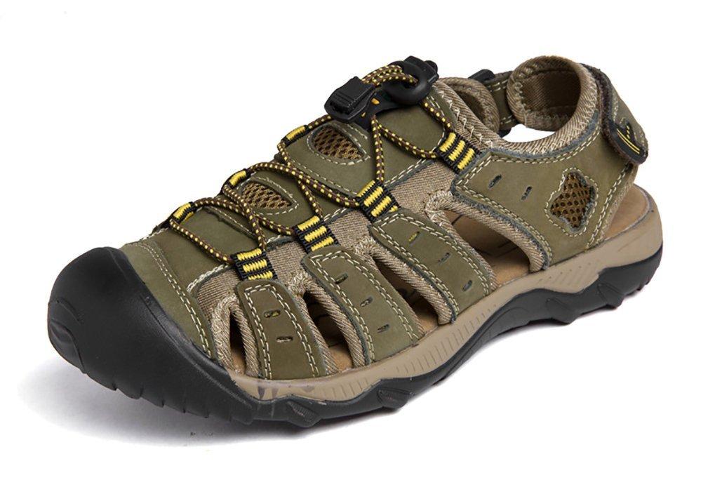 Scennek - Sandalias de Vestir de Caucho para Hombre 45 EU Forest Verde