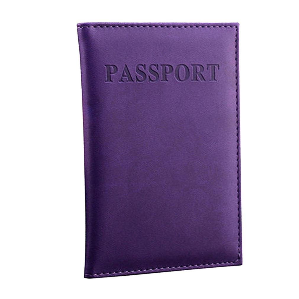 LLguz Unisex Dedicated Nice Travel Passport Case ID Card Cover Passport Holder Protector Bag Passport Protection Package (Purple)