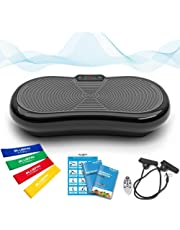 Bluefin Fitness Ultra Slim Vibration Plate | Lose Fat & Tone Up at Home | 5 Programs + 180 Levels | Bluetooth Speakers | Easy Storage | Sleek UK Design