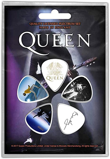 Paquete de 5 púas de guitarra oficiales de 1 mm de Queen Brian May ...