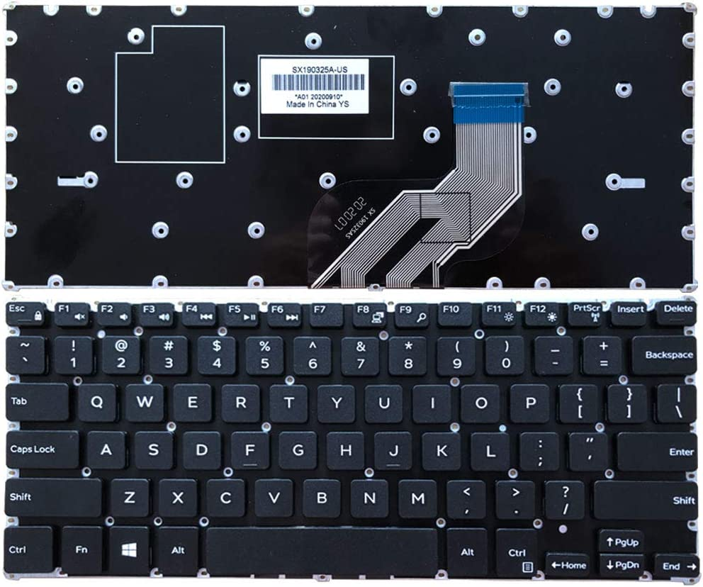 Laptop Replacement Keyboard Fit Dell Inspiron 11-3000 3162 3164 3168 3169 3179 D1208R 0G96XG US Layout