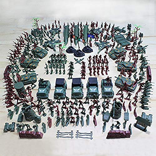 Men Toy Soldiers - MCpinky 307 PCS World War II Army Men,War Soldiers with Hand Bag,Toy Soldiers Set,Gift for Kids