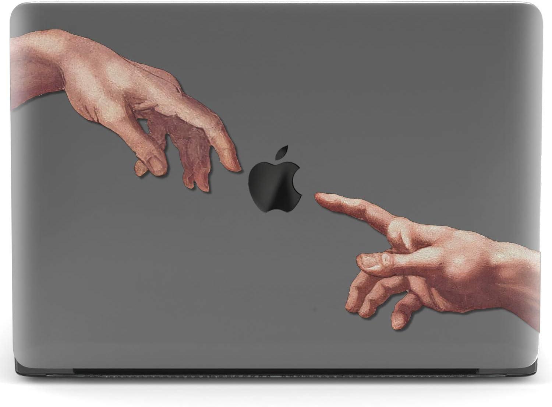 Mertak Hard Case for Apple MacBook Pro 16 Air 13 inch Mac 15 Retina 12 11 2020 2019 2018 2017 Simple Plastic Creation of Adam Hands Cover Print Design Women Art Touch Bar Shell Girls Michelangelo