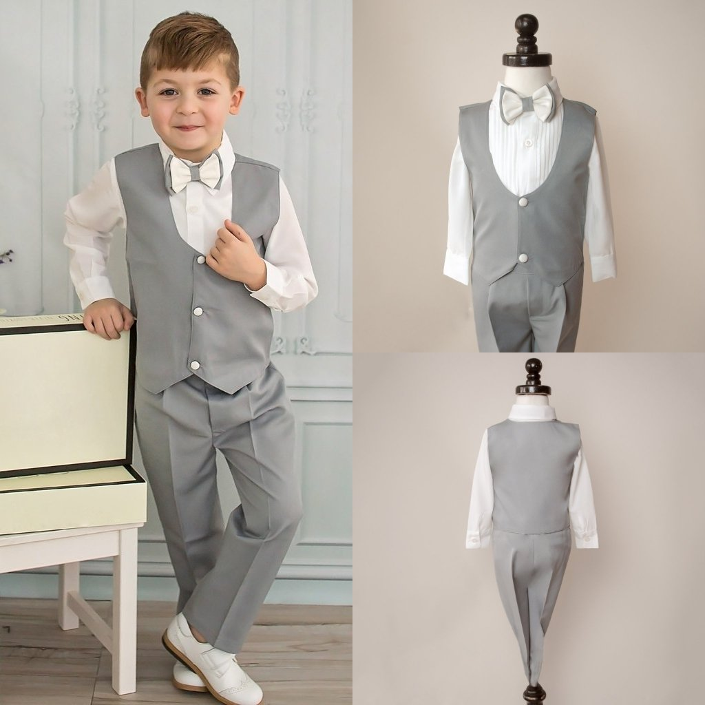 Kelaixiang Boys Classic Formal Suit Set 2 Piece Pants Vest Suits for Wedding