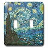 3dRose lsp_164649_2 Starry Night by Van Gogh Vintage Double Toggle Switch