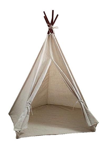Image Unavailable  sc 1 st  Amazon.com & Amazon.com: Miyaya 6u0027 Large Canvas Teepee Play Tent Indian Play Tent ...